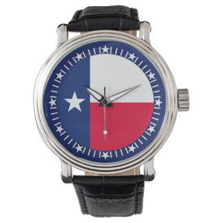 Diseño del reloj de la bandera del estado de Tejas