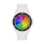 Diseño del reloj de la rueda de color