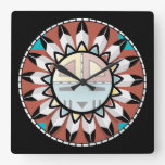 Diseño del reloj del extracto del Hopi del nativo