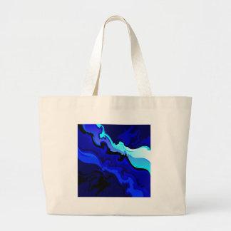 Diseño del remolino de la onda del azul de cobalto bolsa