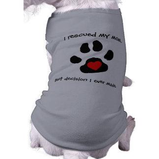 Diseño del rescate del perro camisetas mascota