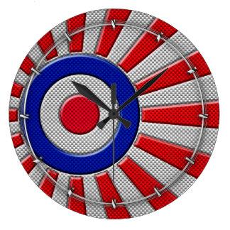 Diseño del resplandor solar de la MOD Roundel en Reloj Redondo Grande