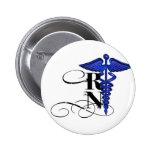 Diseño del RN del caduceo Pin Redondo De 2 Pulgadas