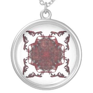 Diseño del rojo y del negro colgante redondo