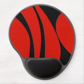 Diseño del rojo y del negro, gel mousepad. alfombrillas de raton con gel
