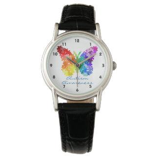 Diseño del rompecabezas de la mariposa de la reloj