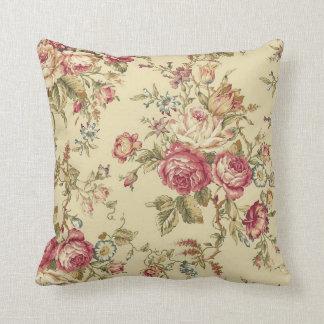 Diseño del rosa de la col del vintage cojín decorativo