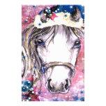 Diseño del rosa del caballo del día de fiesta papelería