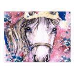 Diseño del rosa del caballo del día de fiesta postal