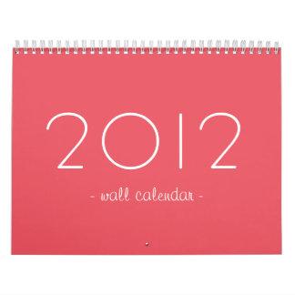Diseño del rosa del caramelo su calendario de