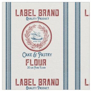Diseño del saco de la harina del vintage telas