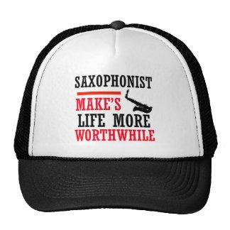 diseño del saxofón del alto gorras de camionero