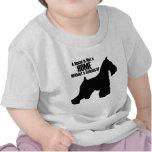 Diseño del Schnauzer de la camiseta del niño