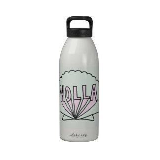 Diseño del Seashell del inconformista del HOLLA Botella De Agua Reutilizable