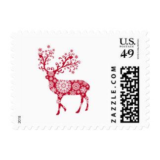 Diseño del sello con los ciervos rojos del navidad