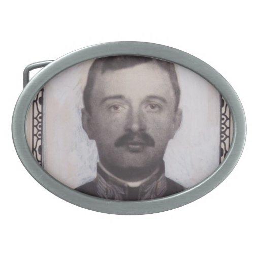 Diseño del sello de Koloman Moser- para el emperad Hebilla Cinturón Oval