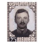 Diseño del sello de Koloman Moser- para el emperad Tarjeta Postal