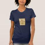 diseño del sello de la raya de la flor de lis camisetas