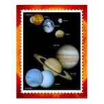 Diseño del sello de la Sistema Solar Postal
