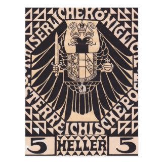 Diseño del sello del Moser-Franqueo de Koloman Postales