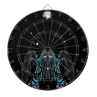 Diseño del shaman del sueño de la luna azul tablero dardos