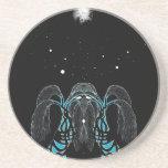 Diseño del shaman del sueño de la luna azul posavasos diseño