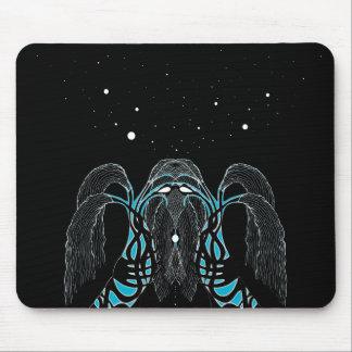 Diseño del shaman del sueño de la luna azul tapete de raton