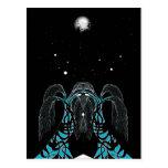Diseño del shaman del sueño de la luna azul postales