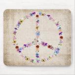Diseño del signo de la paz alfombrilla de ratón
