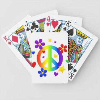 diseño del signo de la paz baraja