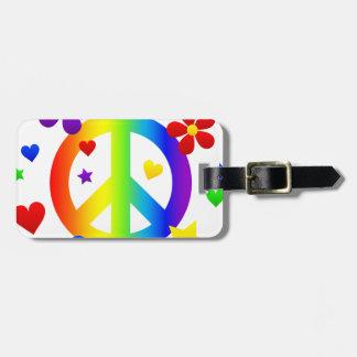 diseño del signo de la paz etiquetas bolsas
