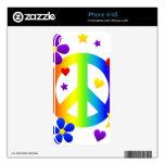 diseño del signo de la paz iPhone 4S skin