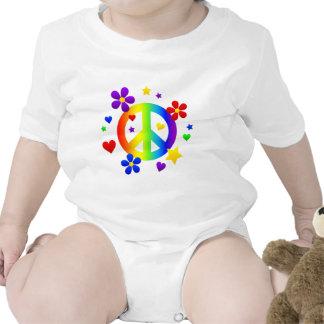 diseño del signo de la paz camiseta