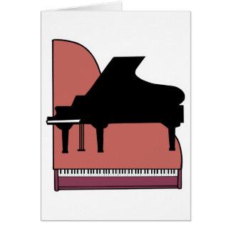 diseño del silouhette del piano tarjeta de felicitación