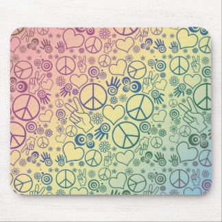 Diseño del símbolo de paz alfombrilla de raton