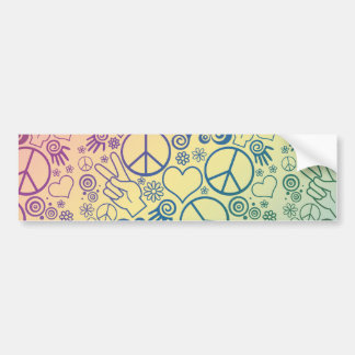 Diseño del símbolo de paz etiqueta de parachoque
