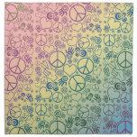 Diseño del símbolo de paz servilleta