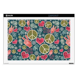 Diseño del símbolo de paz skins para portátiles