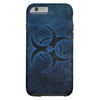 diseño del símbolo del biohazard del grundge funda de iPhone 6 tough