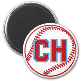 Diseño del softball del béisbol de las alturas de  imán redondo 5 cm