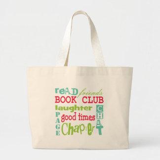 Diseño del subterráneo del círculo de lectores por bolsa tela grande