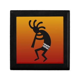 Diseño del sudoeste que baila Kokopelli Caja De Joyas
