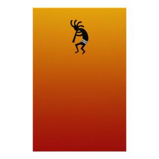 Diseño del sudoeste que baila Kokopelli Papelería Personalizada