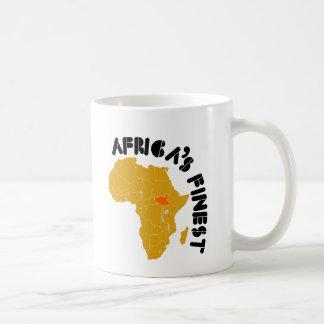 Diseño del sur del mapa de Sudán Taza De Café