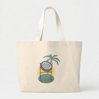 diseño del tambor de acero y de la palmera bolsa tela grande