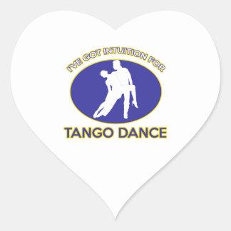 diseño del tango pegatina en forma de corazón