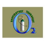 Diseño del tanque del O2 del terapeuta respiratori Tarjeta Postal