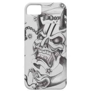Diseño del tatuaje de la máscara de Hannya iPhone 5 Case-Mate Protectores