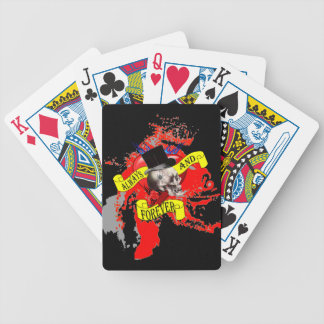 Diseño del tatuaje del cráneo y del corazón de baraja cartas de poker