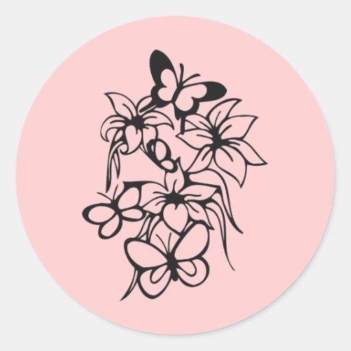 Diseño del tatuaje pegatinas redondas